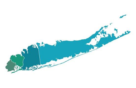 Map of Long island