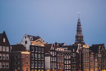 Buildings in Amsterdam background