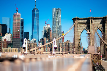 Zelfklevend Fotobehang Brooklyn Bridge New York City from Brooklyn Bridge