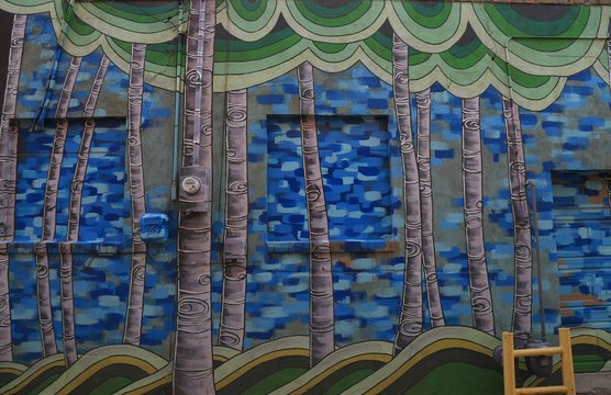 Wall mural of trees in Laramie