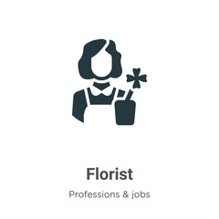 Florist vector icon on white background. Flat vector florist icon symbol sign from modern professions & jobs collection for mobile concept and web apps design.
