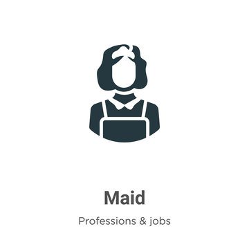 Maid vector icon on white background. Flat vector maid icon symbol sign from modern professions & jobs collection for mobile concept and web apps design.