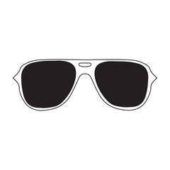 Sunglasses eyeglasses icon. Vector illustration with trendy hand drawn glasses