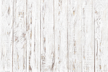 Wall Mural - wood texture, old wood board pattern, white background with copy space
