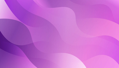Abstract Wavy Background. For Futuristic Ad, Booklets. Vector Illustration with Color Gradient.