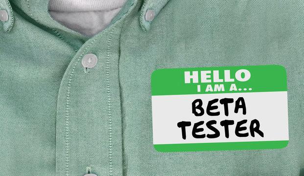 Beta Tester Name Tag Early Release Programmer Developer 3d Illustration