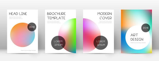 Flyer layout. Trendy appealing template for Brochu