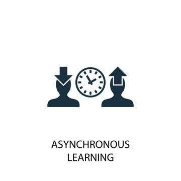 Asynchronous Learning icon. Simple element illustration