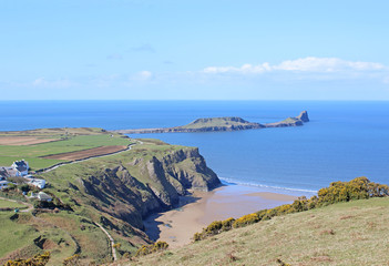 Worm's Head, Rhossili beach, Wales
