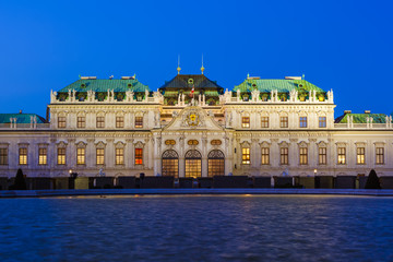 Foto op Canvas Berlijn Palace Belvedere in Vienna Austria