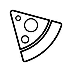 pizza  food icon vector