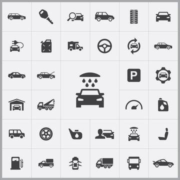 car wash icon. auto icons universal set
