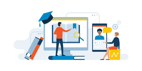 E-learning website and online courses
