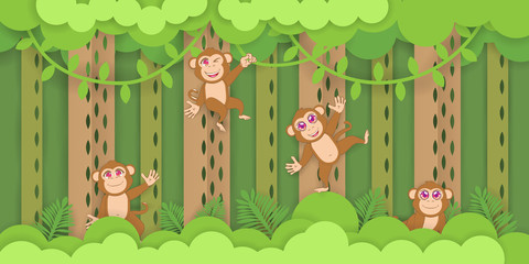 monkey wallpaper background vector graphic design