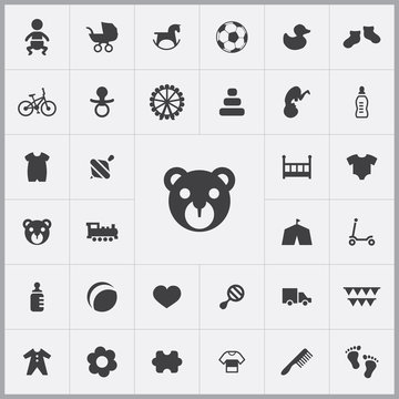 bear icon. baby, kids icons universal set