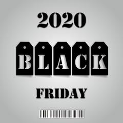 Black Friday 2020 business background