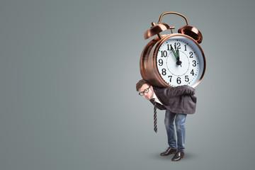Man under time pressure