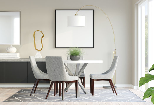 dining room with round table