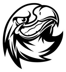 Smiling eagle head