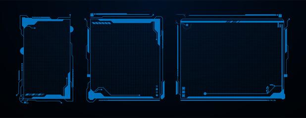 futuristic sci fi technology template design concept background