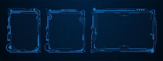 Obraz futuristic template digital design concept background - fototapety do salonu