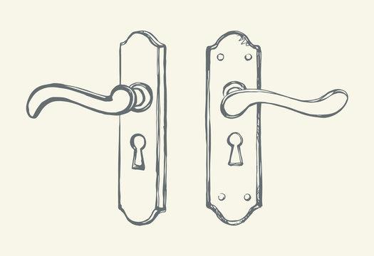 Door knob. Vector drawing