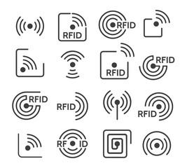 Rfid icons set