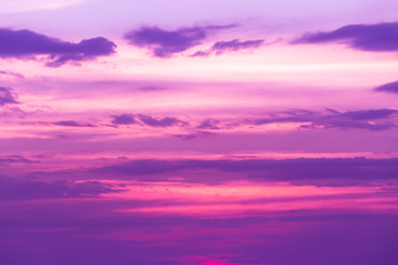 Fond de hotte en verre imprimé Prune Beautiful landscape mountain range and rivers and purple sky at the sunset, twilight period which including of sunrise
