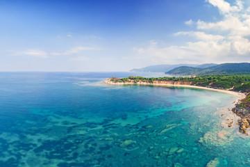 The beach Mandraki in Skiathos, Greece