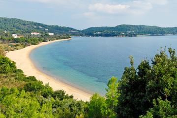 The beach Agia Paraskevi in Skiathos, Greece