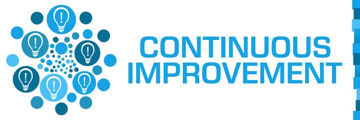 Continuous Improvement Blue Dots Circular Bulbs Left