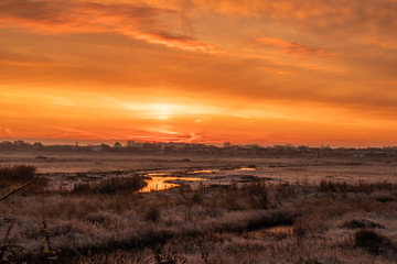 Just before dawn over Southport Marshland