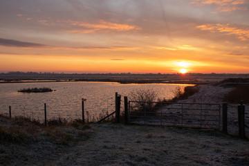 Sunrise over Southport Marshland