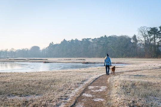 Walking the dog in wintertime