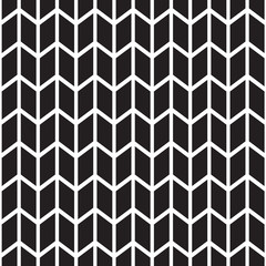 black and white seamless pattern with zig zag