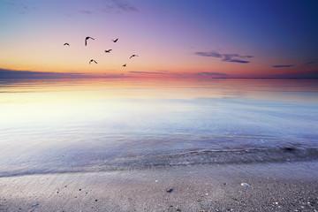 stiller Morgen am Strand