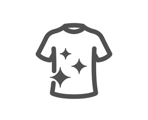 Laundry shirt sign. Clean t-shirt icon. Clothing cleaner symbol. Classic flat style. Simple clean t-shirt icon. Vector