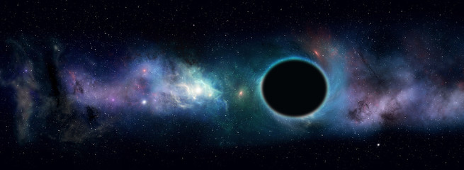 black hole star field Fotomurales