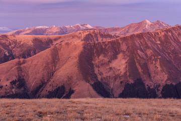 Fototapete - sunrise in Fagaras Mountains, Romania