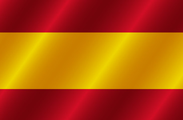 Happy Spain day banner. Bright button with flag of Spain. Bright button with flag. Illustration.