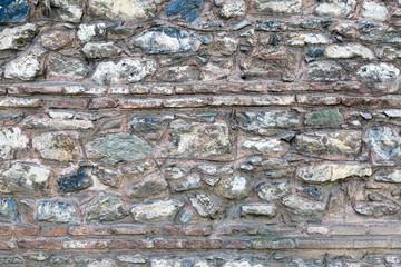 Old stone wall from Byzantine times in Bursa, Turkey