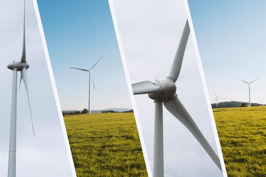 Windkraftanlage für erneuerbare Windenergie
