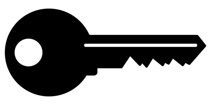 gz600 GrafikZeichnung - german: Schlüssel Symbol. english: key icon. simple template isolated on white background - 2to1 xxl g8740