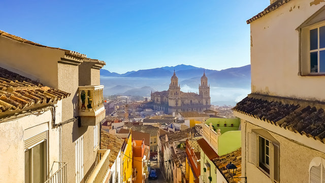 Viewpoint on gorgeous Cathedral of Jaen, Spain
