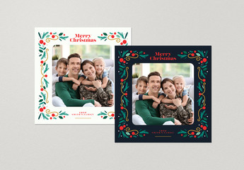 Christmas Photocard Social Media Layouts