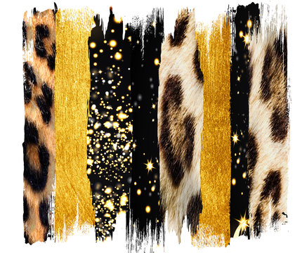 Black and  gold Brush, Strokes, jpg, sublimation, tiger skin, shirt, clip art, leopard texture. Only commercial  use