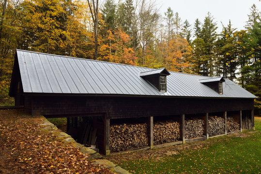 Marsh Billings Rockefeller National Historical Park woodshed on Mountain Road Vermont