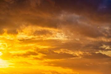 Tuinposter Ochtendgloren sunset in the sky