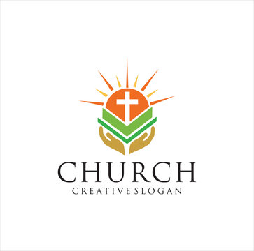 Bible scripture logo Design Vector illustration . Bible Church logo . the name of the mission. Bible Society
