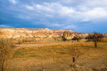 Garden Poster Natural Park Autumn colors and mountain landscapes in Cappadocia
